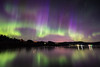 "AURORA 5288<br /> <br /> ""Aurora Explosion!""<br /> <br /> Northern Lights over Grand Portage Bay on Lake Superior - May 13, 2015"