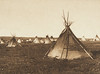 A Prairie Camp - Piegan (The North American Indian, v. VI. Cambridge, MA: The University Press, 1911)