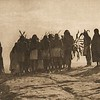 Flute dancers returning to Walpi (The North American Indian, v. XII. Norwood, MA, The Plimpton Press, 1922)