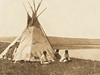 Camp By A Prarie Lake - Piegan (The North American Indian, v. VI. Cambridge, MA: The University Press, 1911)