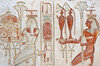 [Egypt 29983] 'Gods representing towns in Ramses II Temple at Abydos.'