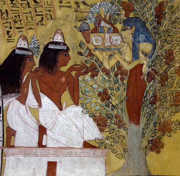 [EGYPT 29417] 'Tree goddess in Sennedjem's tomb at Luxor.'