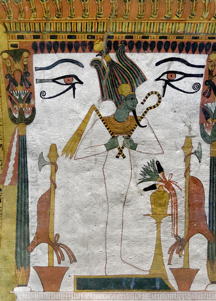 [EGYPT 29416] 'Osiris in Sennedjem's tomb at Luxor.'