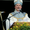 Bishop Thomas John Paprocki greets the Teutopolis community at beginning of homily Mass.