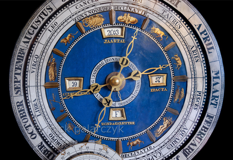 HOLLAND.FRIESLAND 30246] 'Van der Meulen astronomical clock in Franeker'.