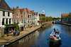 HOLLAND.FRIESLAND 30259] 'Pleasure barge in Dokkum'.