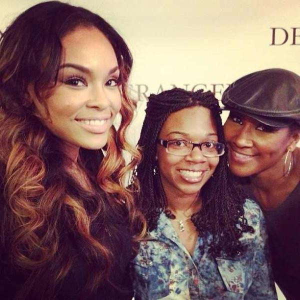 "Demetria McKinney, Brittany & Terri J Vaughn after the stage play ""Deranged"" on May 11, 2013"