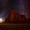 "<b>""MYSTERIOUS MONOLITH""</b>  Shiprock, New Mexico  Towering 1,500+ feet into the night sky in northwestern New Mexico, Shiprock is visible for miles around, day or night. A rising moon and brilliant Milky Way complete the scene, creating a surreal, otherworldly landscape.  Shiprock is a very sacred and important place to the Navajo people, and, standing before it on a starlit night, it is easy to see why. The feeling of ancient energy is palpable."