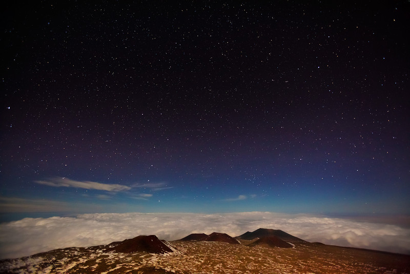 """STARRY SUMMIT SKY""  The Big Island, Hawaii  The night sky explodes with stars on the summit of Mauna Kea in Hawaii. The air up there is some of the clearest in the world, and is an astronomer's dream. Can you see the Big Dipper?"