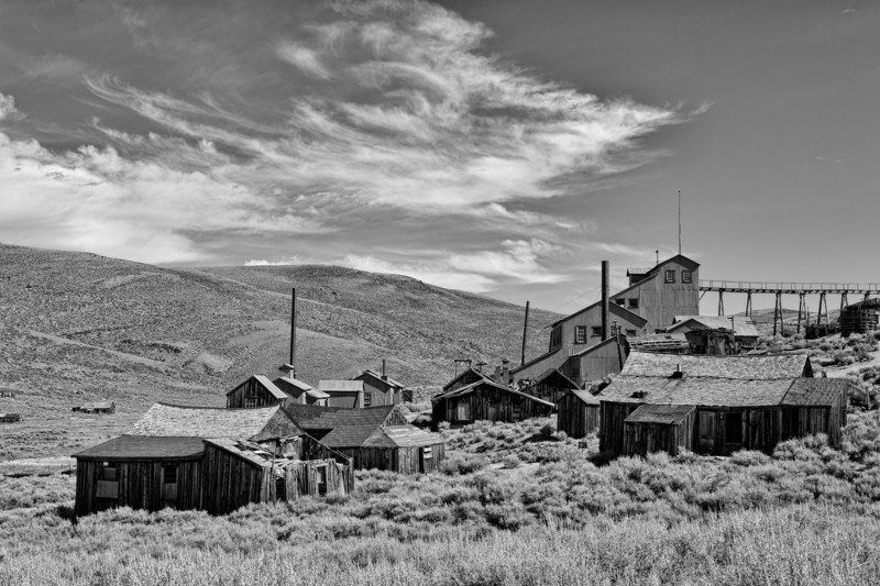 Old Mine BW - Bodie Ghost Town - California