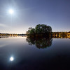 Moon over Greenlake