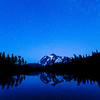 Perseid Meteor over Mount Shuksan - Picture Lake, Mount Baker National Forest, WA