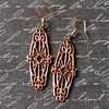 copper filigree earrings rosy finish