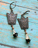 copper citrine floral handmade gemstone earrings boho bohemian jewelry