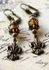 french style fleur de lis charm earrings