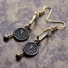 clock watch with pendulum copper and brass crystal earrings renee hong jewelryfineanddandy