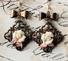 romantic rose and filigree earrings fineanddandy renee hong