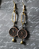 clock watch rustic dangle earrings renee hong