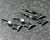 ritz black tie affair top hat gloved hand charm earrings