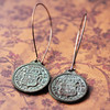 reproduction spanish coin treasure coin pirate booty earrings