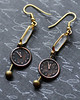 clock and pendulum rusty copper and brass crystal earrings renee hong jewelryfineanddandy - Copy