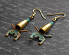 dueling pistol bullet earrings