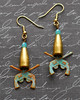 pistol bullet earrings