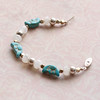man in the moon turquoise and pink rose quartz bracelet