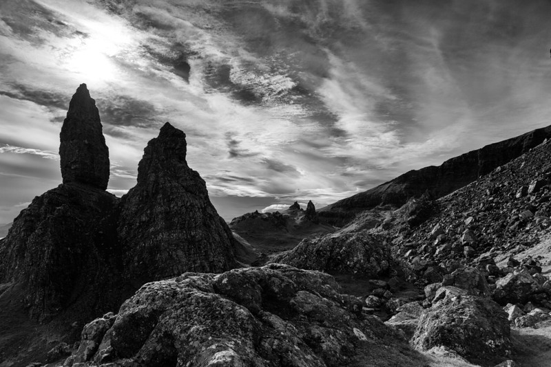 The Dark Side of Storr  I might have expected hobbits!!!