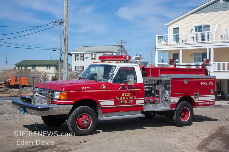 West Wildwood, Cape May County NJ, Brush 21-10, 1990 Ford F250-Pierce 450-250 (C) Edan Davis, www sjfirenews (2)