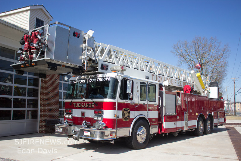 Tuckahoe, Cape May County NJ, Tower 20-50, 1991 Spartan -LTI, 1750-300-105', (C) Edan Davis, www sjfirenews com