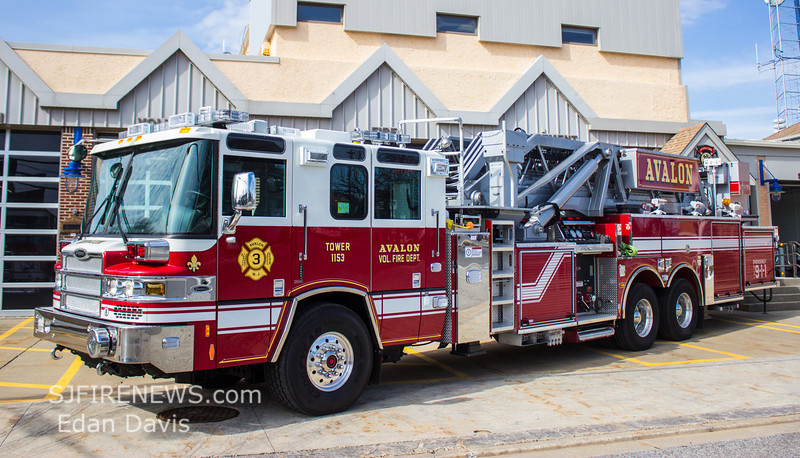 Avalon, Cape May County NJ, Tower 11-53, 2013 Pierce Quantum 2000-300-95', (C) Edan Davis, www sjfirenews com