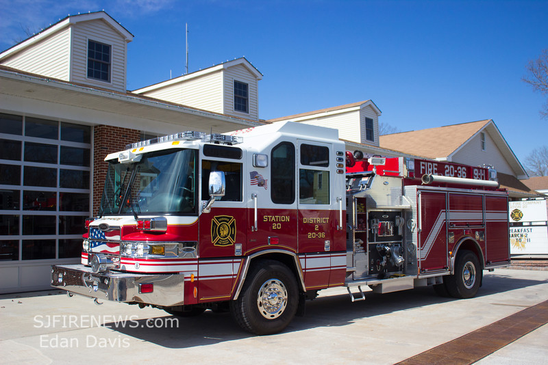 Tuckahoe, Cape May County NJ, Engine 20-36,  2009 Pierce Quantum 2000-1500, (C) Edan Davis, www sjfirenews com