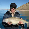 Kelly Mecham with a Bonneville whitefish he caught at Bear Lake on 11-29-13. These native sport fish aren't found anywhere else in the world.