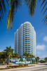 The Breakwater condominium complex in Miami, Florida, USA.