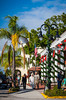 Shops and stores decorated for Christmas in Naples, Florida, USA.