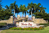 A water fountain at the entrance to the Treviso Bay resort in Naples, Florida, USA.