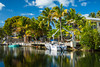 Reflections in a canal near Islamorada, Florida, USA.
