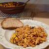 """<h1>Fiesta Bake</h1> ....aka:  Jazzed up mac and cheese!!  This is from <b><u><a href=""""http://www.amazon.com/gp/product/1936661381/ref=as_li_ss_tl?ie=UTF8&tag=mayoowbr-20&linkCode=as2&camp=1789&creative=390957&creativeASIN=1936661381"""" rel=""""nofollow"""">Everyday Happy Herbivore</a></u></b> cookbook by Lindsay Nixon.  All her recipes are zero added fat and 100% delicious!!  If you use a gluten free pasta (<b><a href=""""http://www.amazon.com/gp/product/B000FK8VHE/ref=as_li_ss_tl?ie=UTF8&tag=mayoowbr-20&linkCode=as2&camp=1789&creative=390957&creativeASIN=B000FK8VHE"""" rel=""""nofollow"""">like this one</a></b>) instead of the whole wheat pasta, the dish will be GF."""