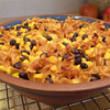 """<h1>Fiesta Bake</h1> ....aka:  Jazzed up mac and cheese!!  This is from <b><a href=""""http://www.amazon.com/gp/product/1936661381/ref=as_li_ss_tl?ie=UTF8&tag=mayoowbr-20&linkCode=as2&camp=1789&creative=390957&creativeASIN=1936661381"""">Everyday Happy Herbivore</a></b> cookbook by Lindsay Nixon.  All her recipes are zero added fat and 100% delicious!!  If you use a gluten free pasta (<b><u><a href=""""http://www.amazon.com/gp/product/B000FK8VHE/ref=as_li_ss_tl?ie=UTF8&tag=mayoowbr-20&linkCode=as2&camp=1789&creative=390957&creativeASIN=B000FK8VHE"""" rel=""""nofollow"""">like this one</a></u></b>) instead of the whole wheat pasta, the dish will be GF.  See <b><a href=""""http://nc-hiker.smugmug.com/Food/Food-All-Recipes/30382827_PxxB5m#!i=2620511943&k=4nMcHGM"""">this photo</a></b> for a picture of this dish plated up."""