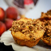 Summeripe Peach & Greek Yogurt Muffins with Bran Crumb Topping