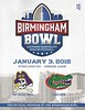 2014 ECU vs UF Birmingham Bowl Game Program