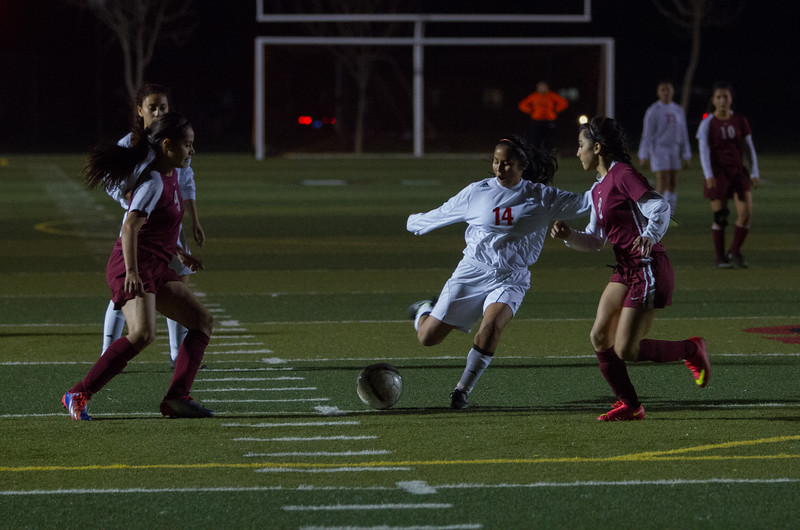 The Lindsay Cardinal Girl's Soccer team cruised to an 8-0 win against Granite Hills in ESL play.