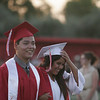 Lindsay High School graduates during the procession into Frank Skadan Stadium on Friday, June 7, 2013.