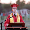 Lindsay High School Valedictorian Charles Kreisel gives his address at the Lindsay High School Commencement ceremony on Friday, June 7 , 2013.