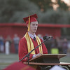 Lindsay High School Valedictorian Charles Kreisel give his address at the Lindsay High School Commencement on June 7, 2013.
