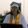 Michele Whitehair gives a Student Address at the Lindsay High School Commencement ceremony on Friday, June 7, 2013.
