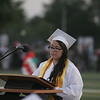 Rosamaria Ibarra give a Student Address during the Lindsay High School Commencement ceremony on Friday, June 7, 2013.