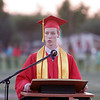 Charlse Kreisel, the Lindsay High School Valedicatorian addresses his classmates during Commencement  on June 7, 2013.
