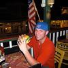Daniel having a Cheeseburger in Paradise in Lahaina
